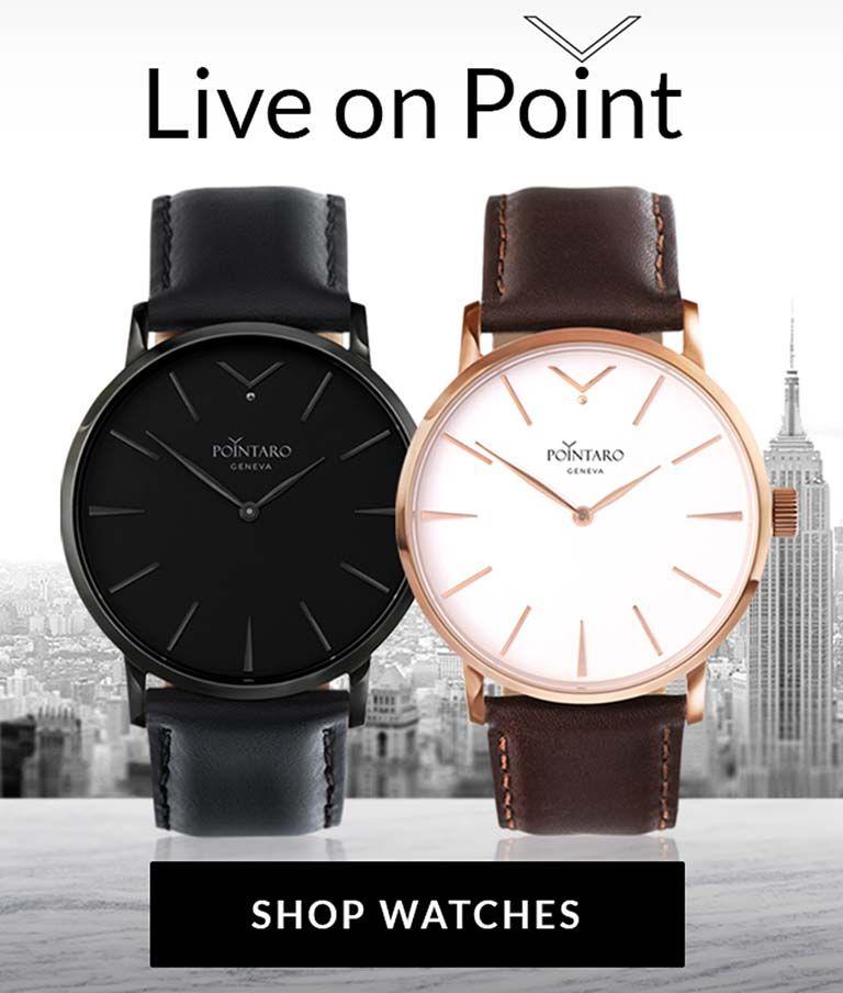 Mesh Watch Band | Pointaro Slogan | Shop Watches | Watches For Men | Pointaro Geneva | Pointaro Banner | Mens Silver Watches