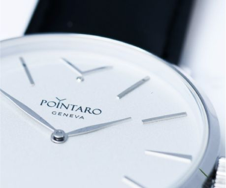 White Dial Watch | Mens Designer Watches | Swiss Watches |Silver Hands And Markers| Mens Luxury Watches | Pointaro Geneva