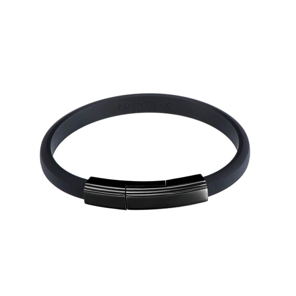 black rubber bracelets - bracelet for men - black on black accessories - wristband for men