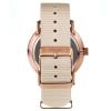 Quartz Watch - Rose Gold Watch With White Face - Gray Nylon Nato Strap - Men's Watch