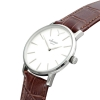 White And Silver Watch - Men's Watch - Analogue Watch Face - Crocodile Leather Strap - Wrist Watch