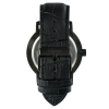 Black Crocodile Watch Strap - Black Buckle - Watch Strap - Interchangeable Watch Strap - Leather Strap